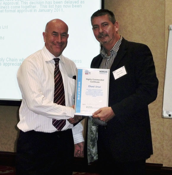 Safety award for steelwork contractor
