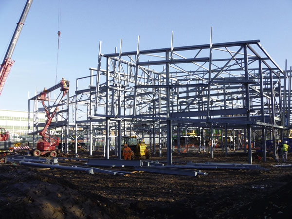 Steel cubes form youth village