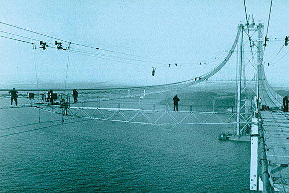 50 years ago: Cable spinning for the Forth Road Bridge