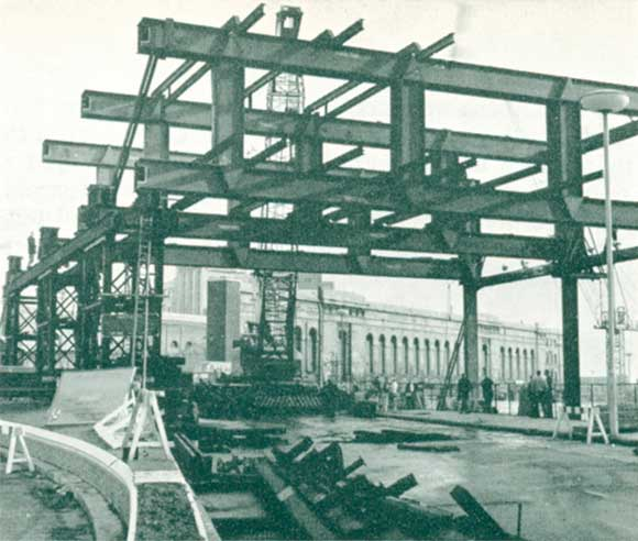 50 Years Ago: Steelwork for 150-ft bridge is erected in one weekend