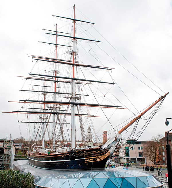 Historic tea clipper Cutty Sark reopens