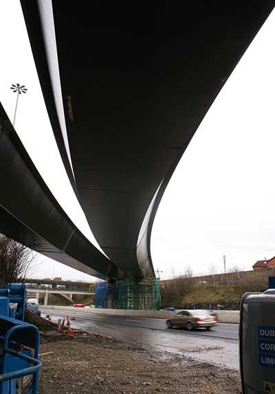 Curved bridge for Dublin motorway upgrade