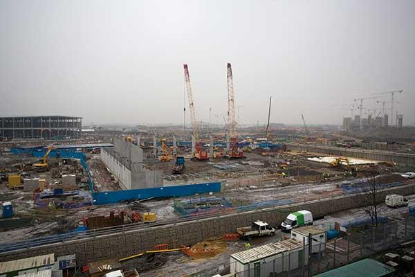 London 2012 Handball Arena taking shape