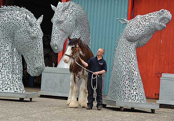 Fabrication contract awarded for giant equine sculptures