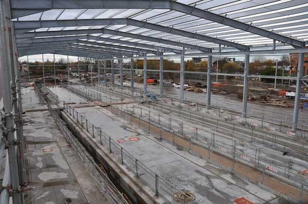 Metrolink depot takes shape with steel