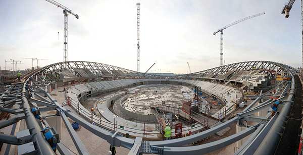Steel structure keeps Velodrome on track