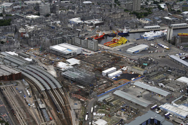 Construction work surges ahead in Scottish boom town
