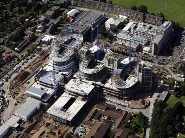 Steel provides boost for new hospital