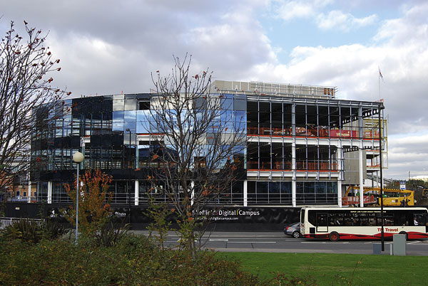 Steel shapes speculative office development