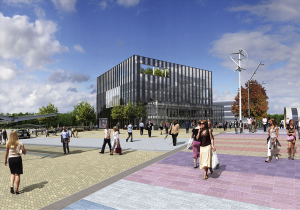 Cube office for Corby Council
