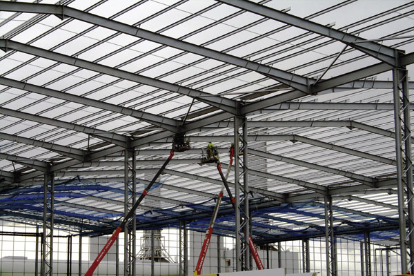 Big spans for new Corby warehouse