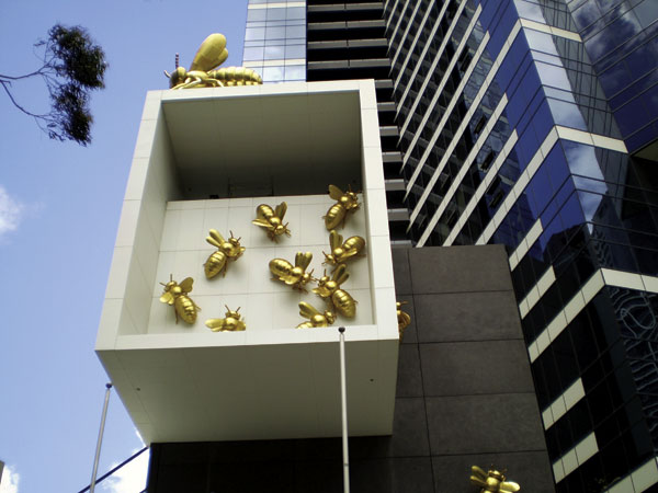Busy bees bolt to world's highest apartment block
