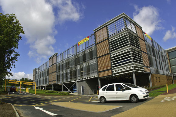 Vertical circulation eases hospital parking