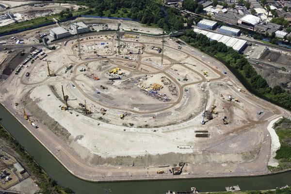 Construction surges ahead on Olympic Stadium