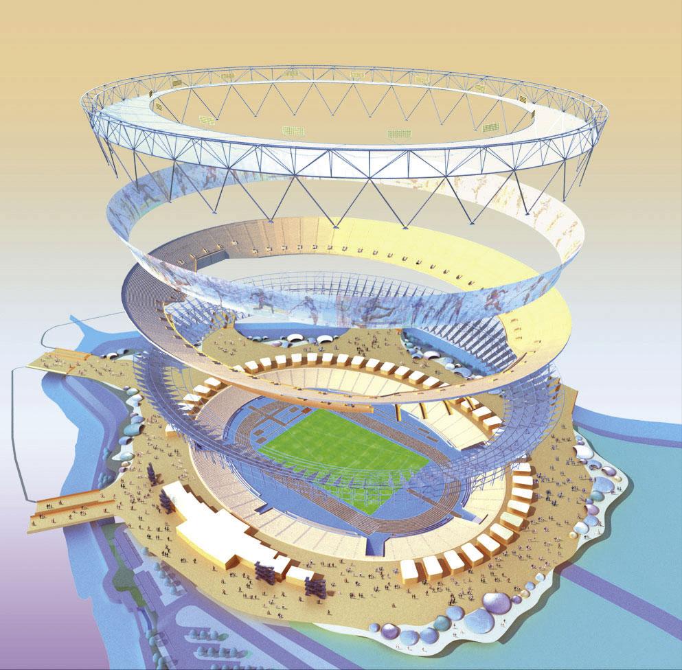 Olympic authority unveils designs for 2012 stadium