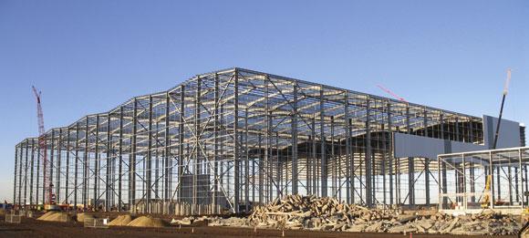 Purpose built green warehouse