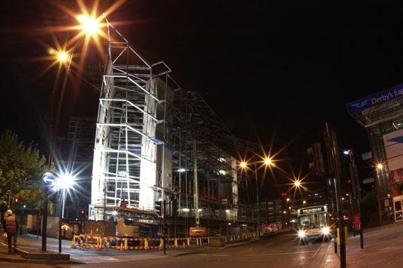 Lighting up a city centre