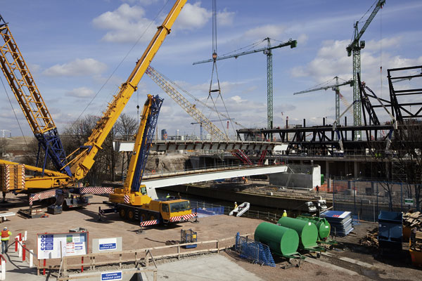 First link to Olympic Stadium in place