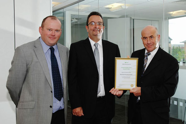 Steelwork contractor scoops supply chain accolade