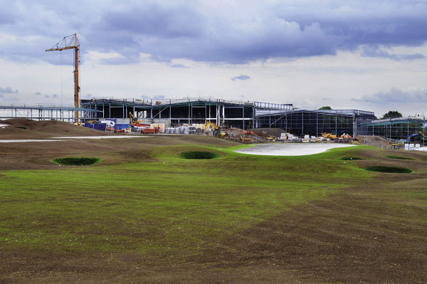 Sports complex swings into action