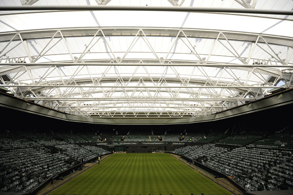 Centre court roof set for debut