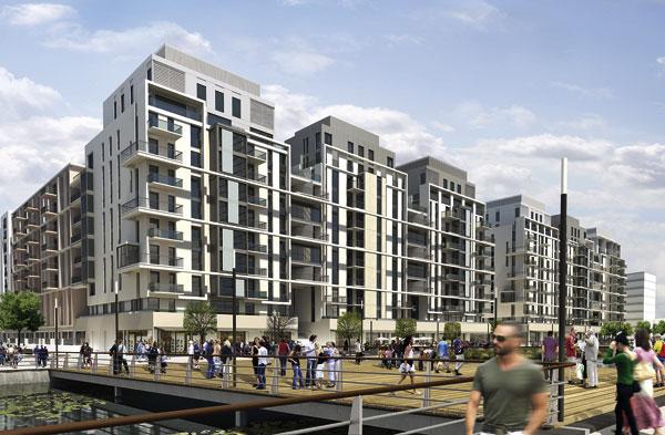 Steelwork rises on Olympic Park