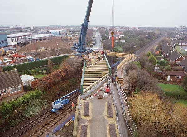Rail crossing on track