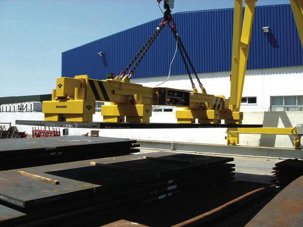 Magnetic handling eases loading