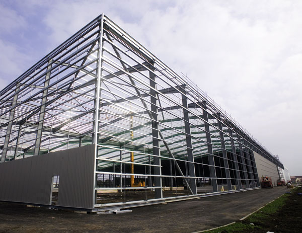 Portal frames new business park