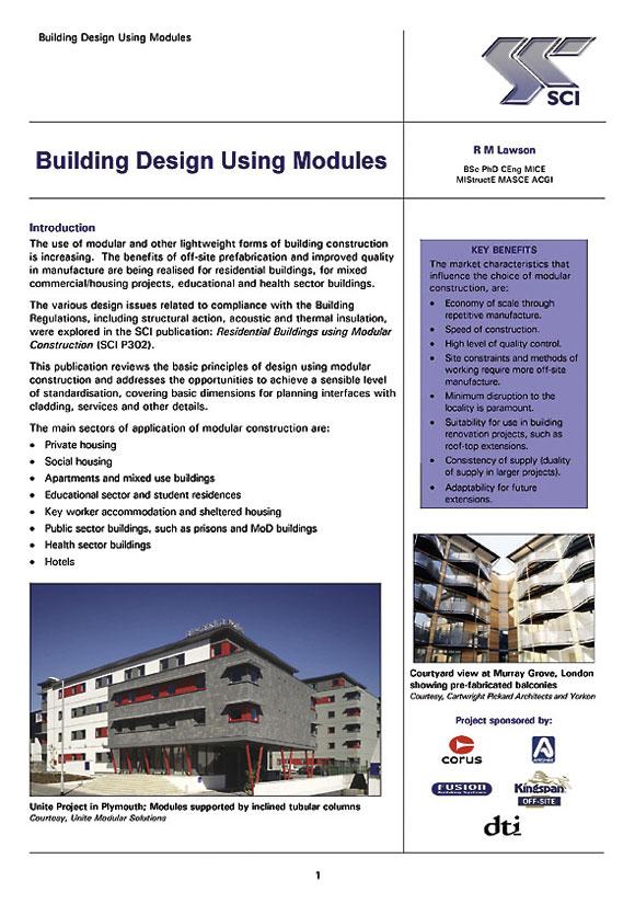Building design using modules