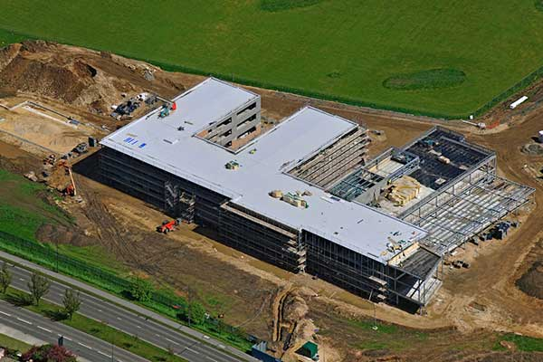 Academy rises with steel construction