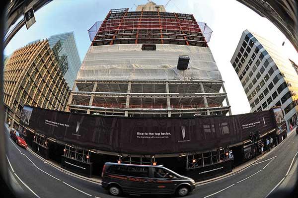 London landmark reaches halfway point