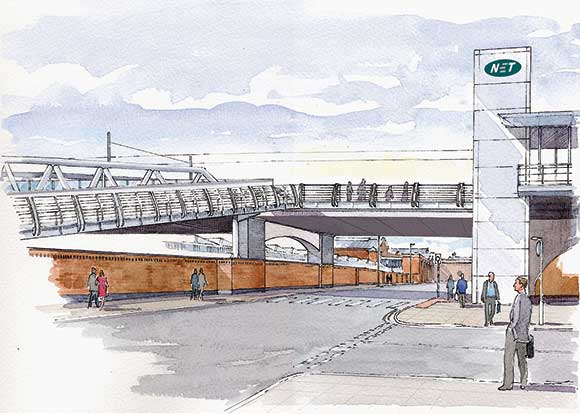 Bridges on track for Nottingham tram extension