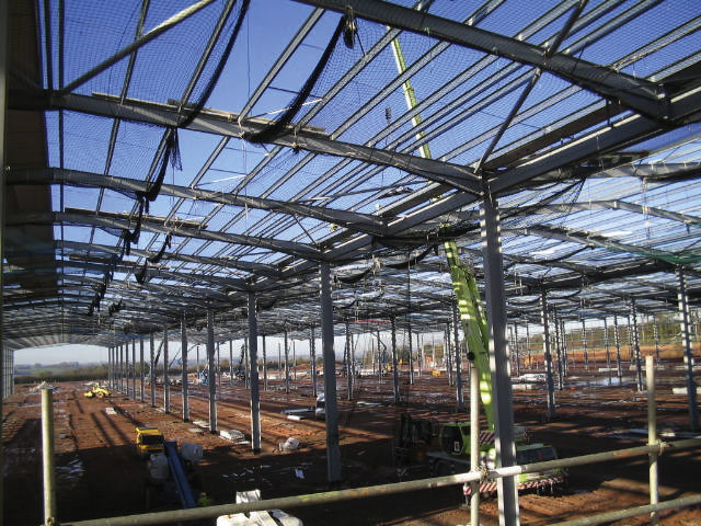 Three steel sheds for Staffordshire park