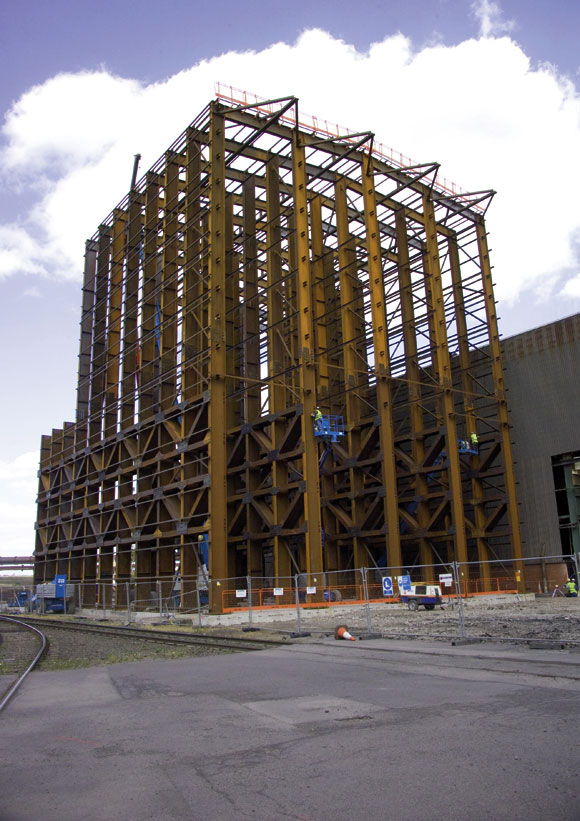 Deep piles take the weight for new Corus facility
