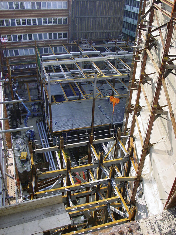 Steel addition for listed buildings