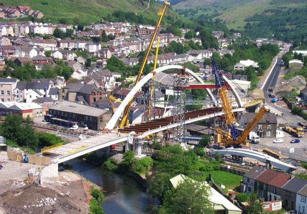 Steel bridges the valley