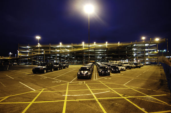 Five storey storage for export cars