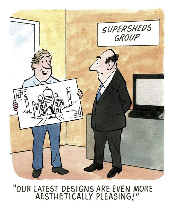 Supersheds – Cartoon