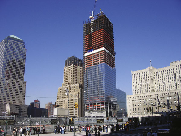 Trade Centre tower rises in steel