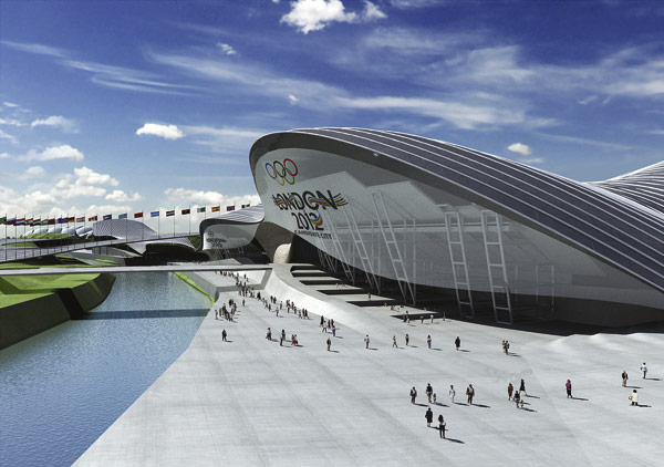 Wave-shaped roof for Olympic pool bid
