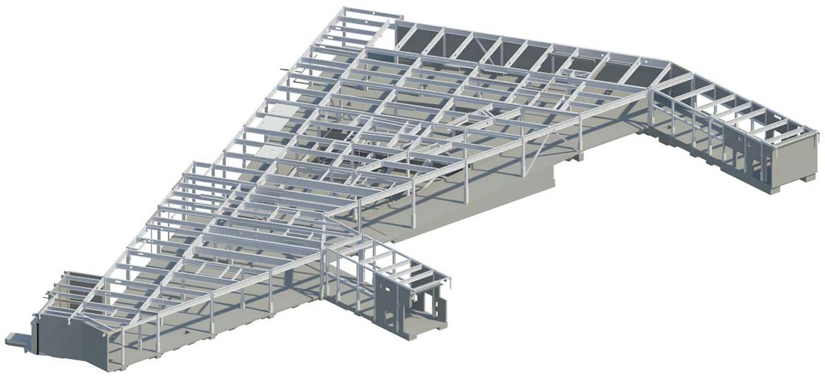 Steel allows access to all areas