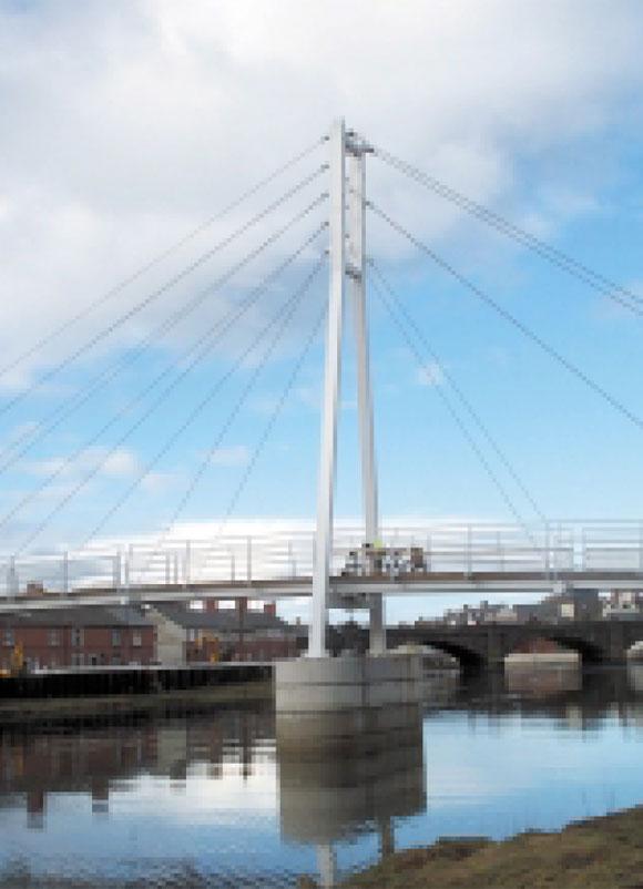 Trefechan footbridge in Aberystwyth