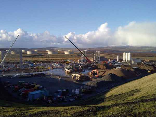 Steel supports North Sea oil terminal