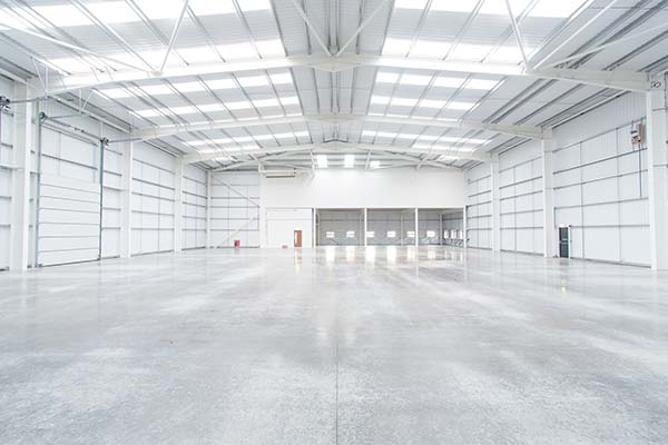 Excellent distribution park completed with steel