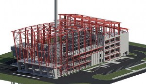 The project's steel frame in its entirety
