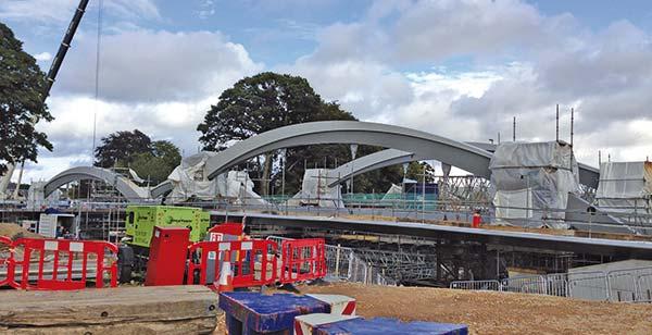 Bridge aids town's flood defences