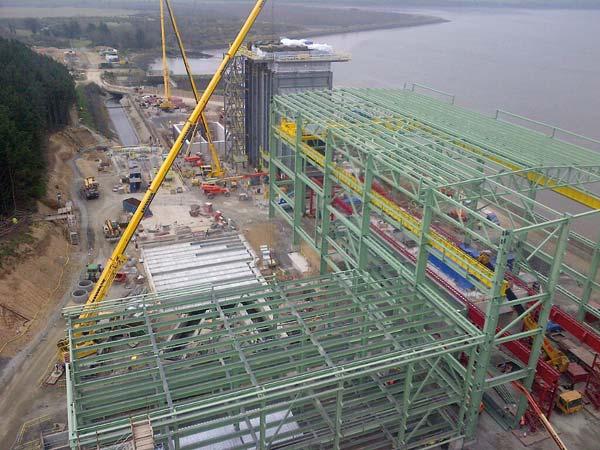 Steel shapes Irish power plant