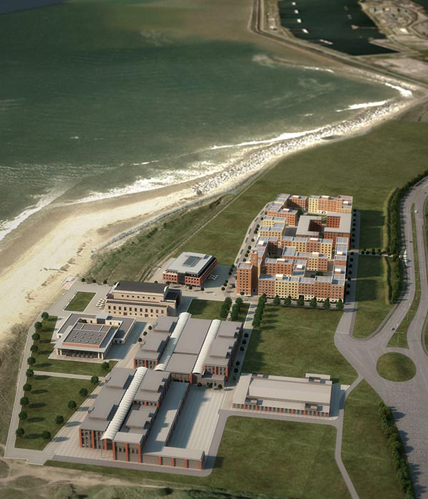 Campus by the sea takes shape
