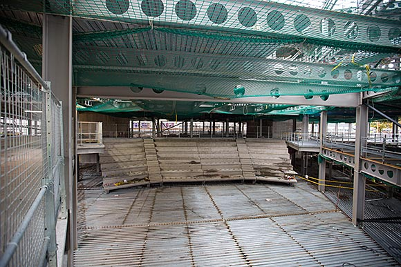 The centrally positioned 450 seat auditorium